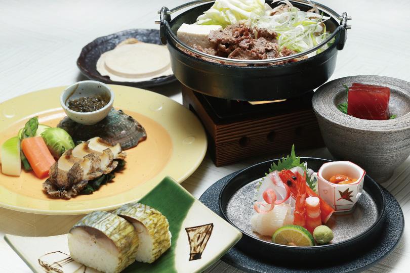 鮑ステーキに旬の魚介と酒肴「八戸郷土料理コース」7,900円