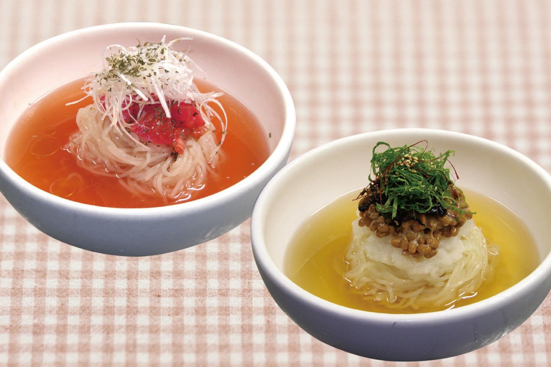 トマト冷麺・納豆冷麺