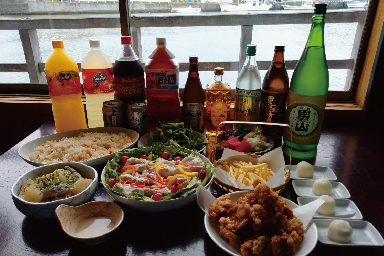 パーティープラン(乗船料・ビュッフェ料理8品飲み放題付)